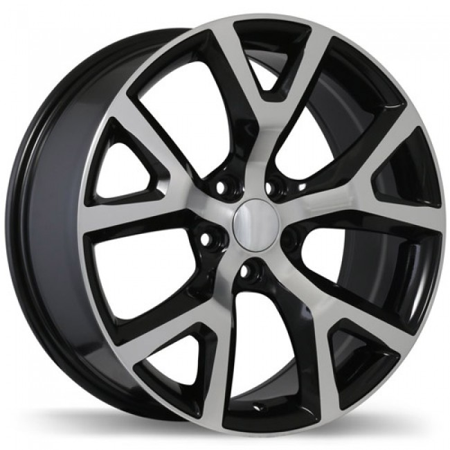 Replika Wheels R165, Machine Black wheel