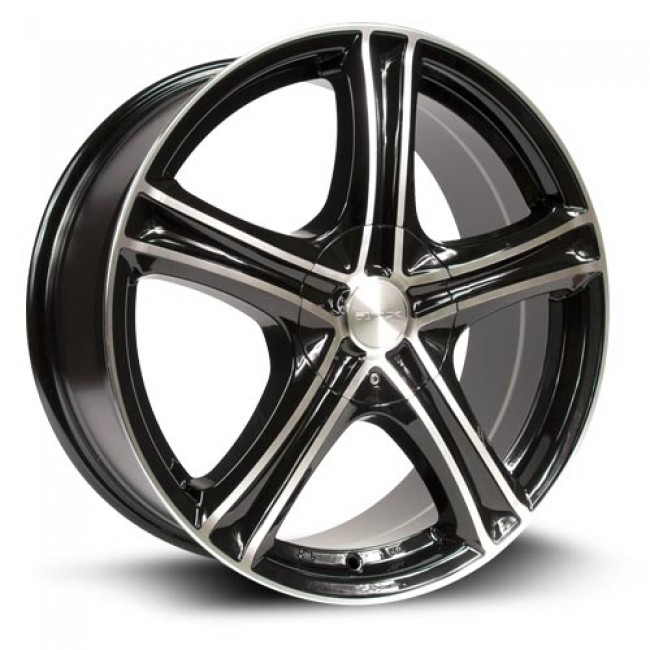 RTX Wheels Stratus, Noir Machine/Machine Black, 16X7, 5x112/114.3 ( offset/deport 45), 73.1