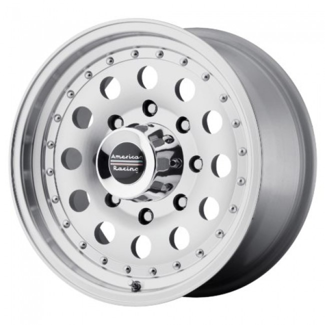 American Racing AR62 OUTLAW II, Machine Black wheel
