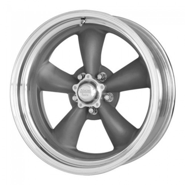 American Racing VN215 CLASSIC TORQ THRUST II 1 PC, Machine Grey wheel