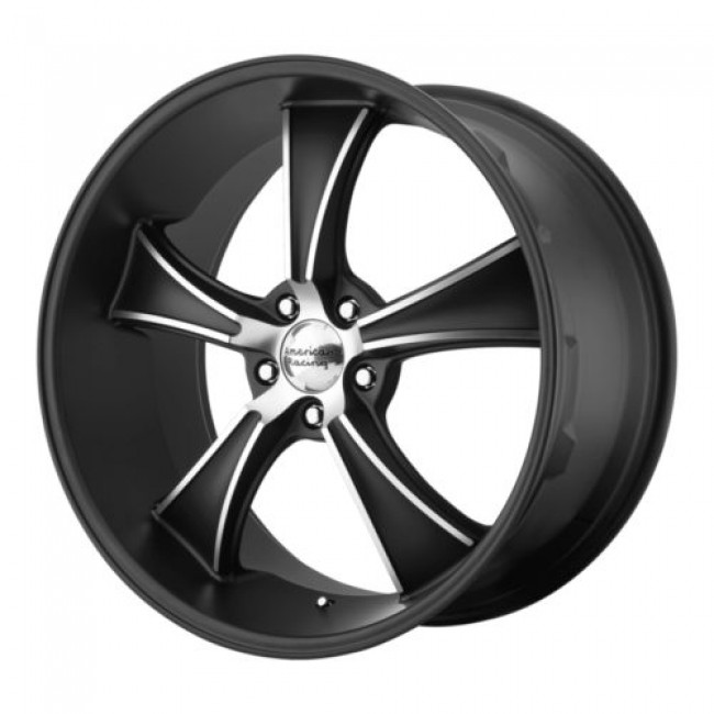 American Racing VN805 BLVD, Machine Black wheel