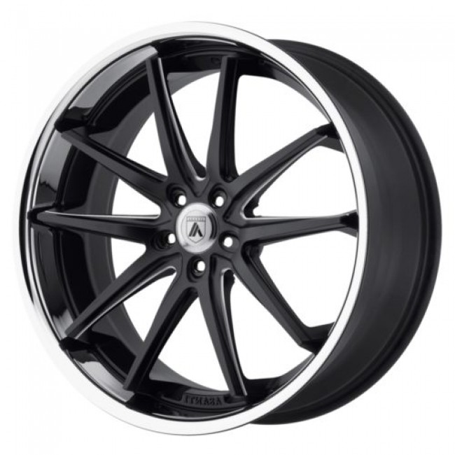 Asanti Black ABL-5, Matt Black Machine wheel