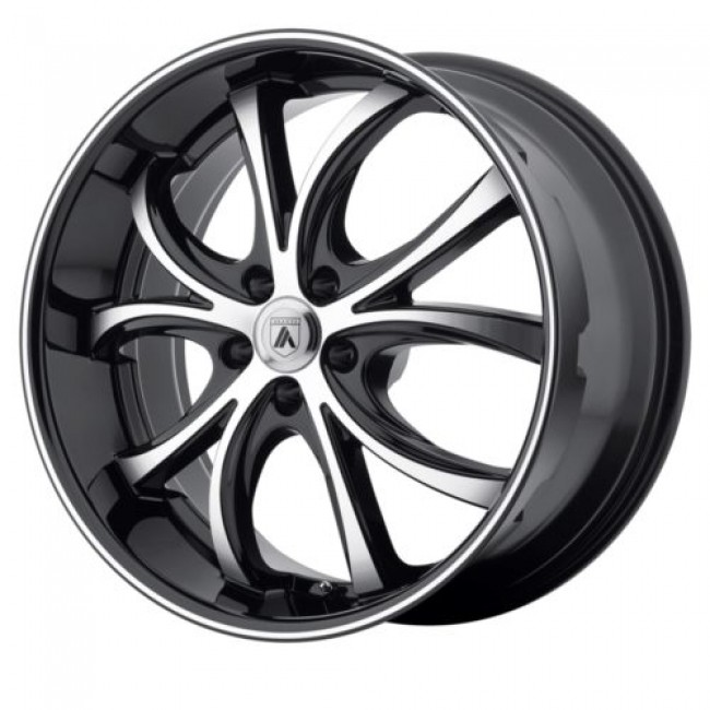 Asanti Black ABL-8, Machine Black wheel