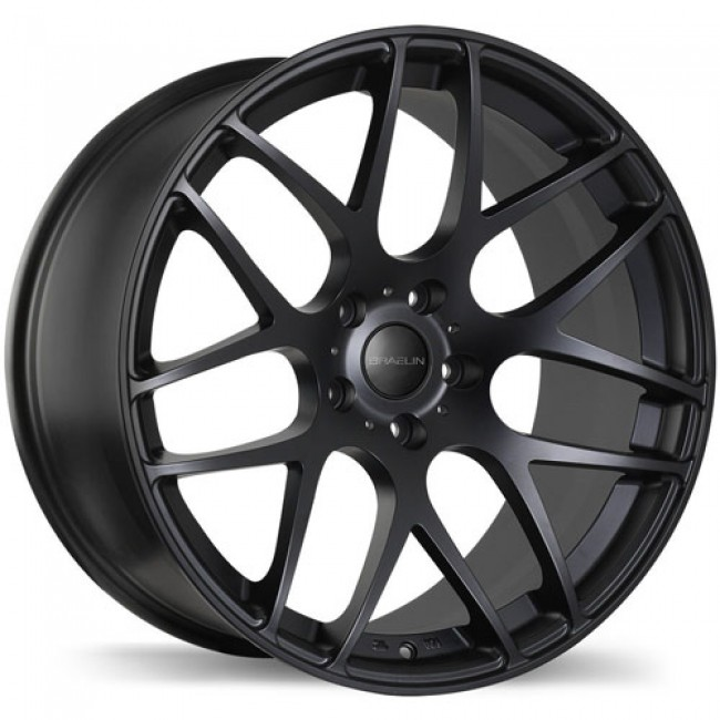 Braelin BR06 Satin Black/Noir satiné, 19X8.5, 5x112, (offset/déport 45 ) 66.6