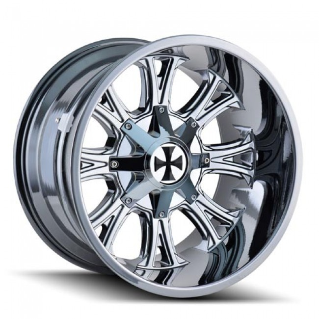 Calioffroad 9101 Americana Chrome / Chrome, 22X14, 8x165.1/170 ,(déport/offset -76 ) 130.8