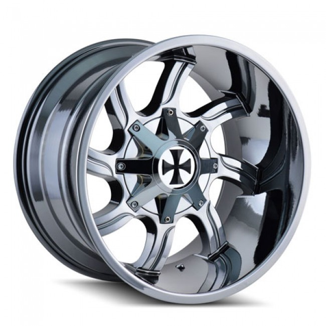 Calioffroad 9102 Twisted PVD Chrome / Chrome Vaporise, 20X9, 5x127/139.7 ,(déport/offset 0 ) 87