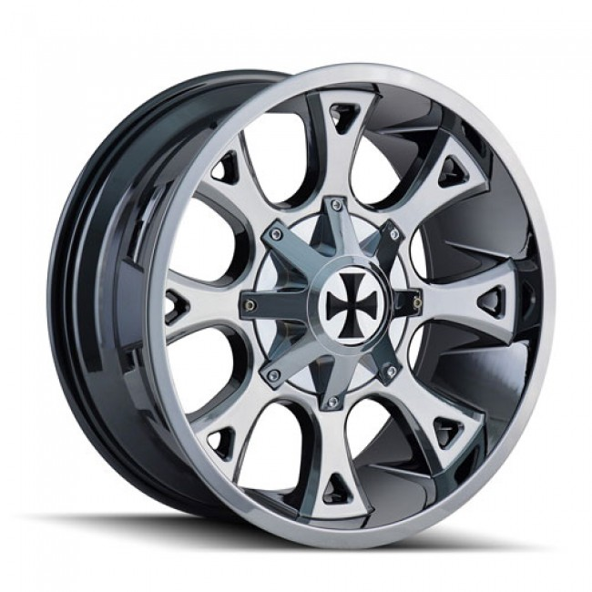 Calioffroad 9103 Anarchy PVD Chrome / Chrome Vaporise, 20X9, 8x180 ,(déport/offset 18 ) 124.1