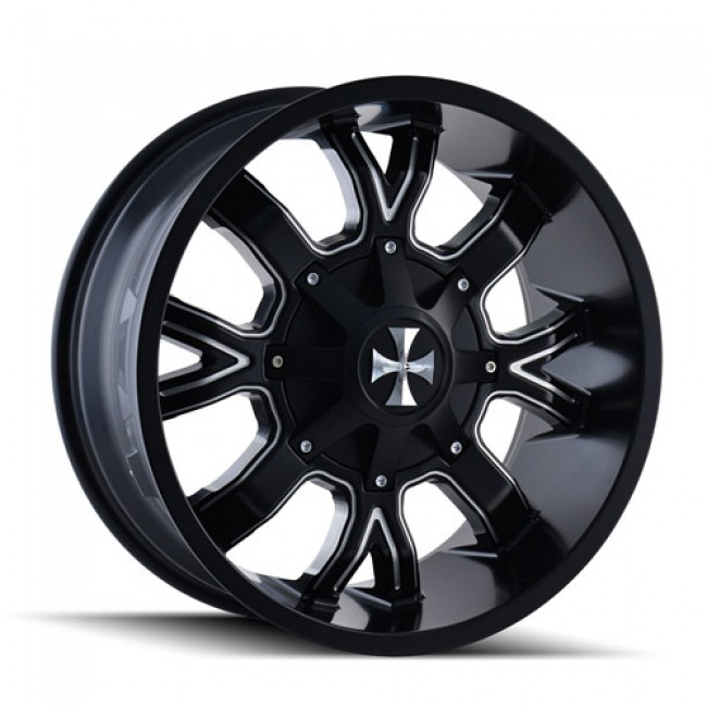 Calioffroad 9104 Dirty Machiné Black / Noir Machiné, 20X9, 5x127/139.7 ,(déport/offset 18 ) 87