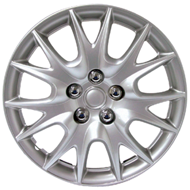 """Wheel Covers 15"""" (set of 4) - Silver - D95015S"""