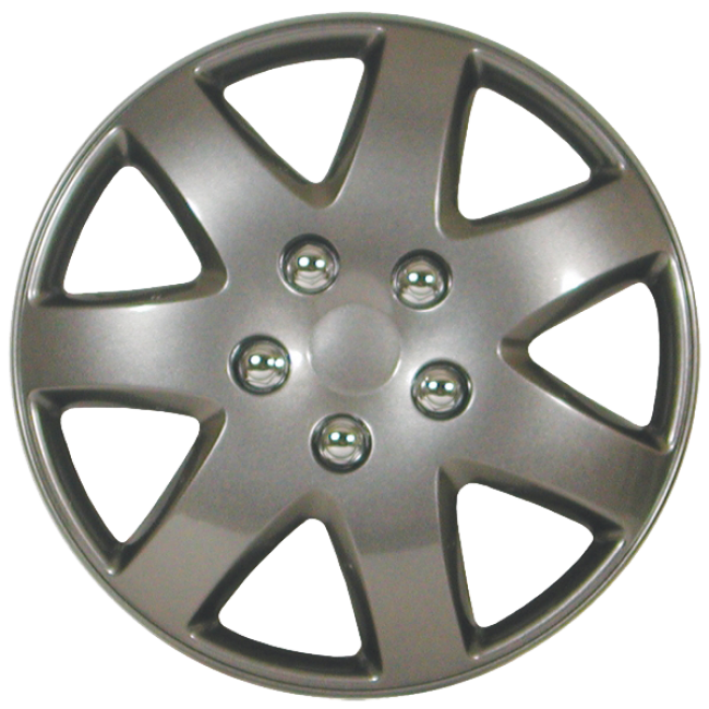 """Wheel Covers 15"""" (set of 4) - Silver - D96215CS"""