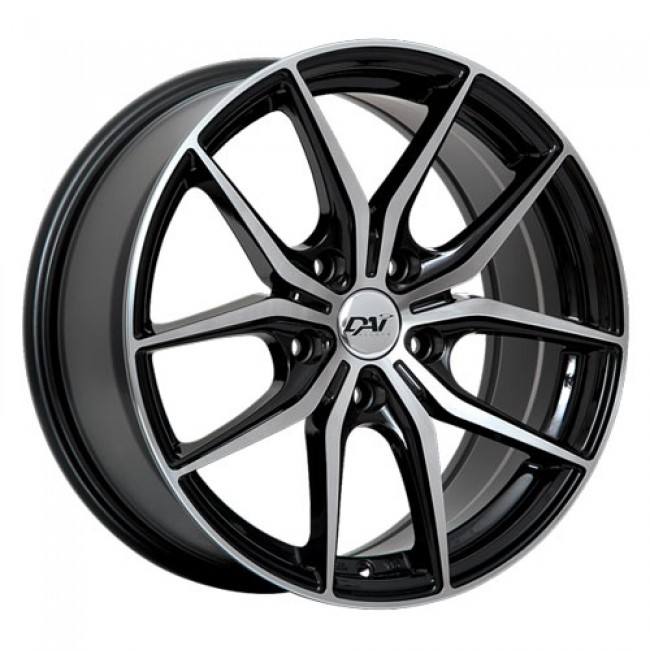 Dai Alloys Arc, Gloss Black Machine wheel