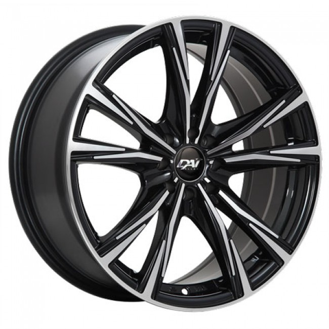 Dai Alloys Oracle, Gloss Black Machine wheel
