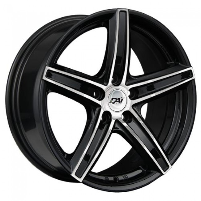 Dai Alloys Revo, Gloss Black Machine wheel