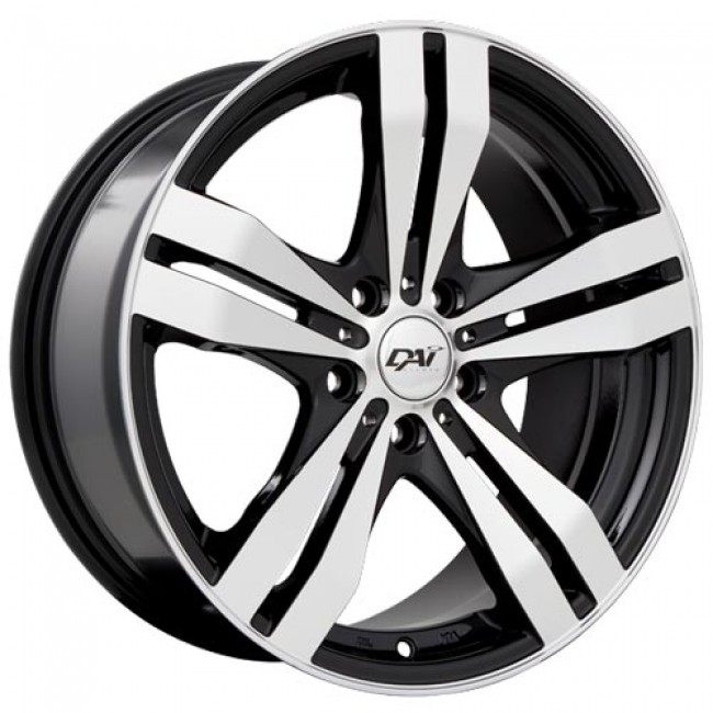Dai Alloys Target, Gloss Black Machine wheel