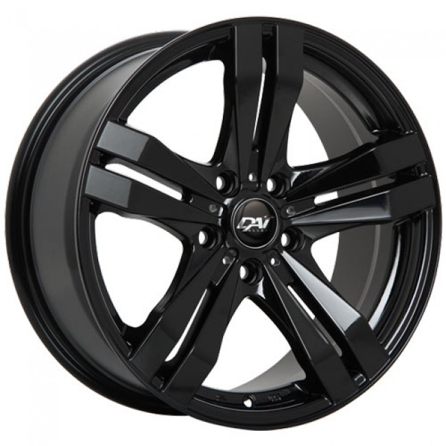 Dai Alloys Target Gloss Black/Noir lustré, 16X7.0, 5x110 ,(déport/offset38 )65.1