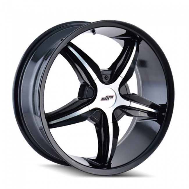 Dip D35 Diplomat Machiné Black / Noir Machiné, 18X7.5, 5x100/105 ,(déport/offset 40 ) 72.62