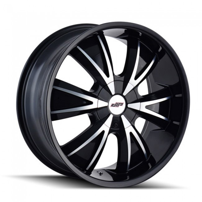 Dip D38 Vibe Machiné Black / Noir Machiné, 18X7.5, 5x108/114.3 ,(déport/offset 40 ) 72.62