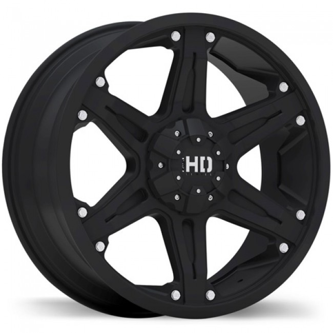 Fastwheels Invasion Matte Black/Noir mat, 18X8.5, 5x108 / 114.3, (offset/déport 40 ) 73