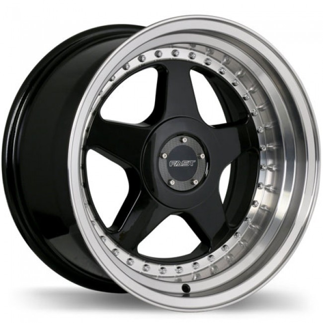 Fast Wheels Kimura, Gloss Black Machine wheel