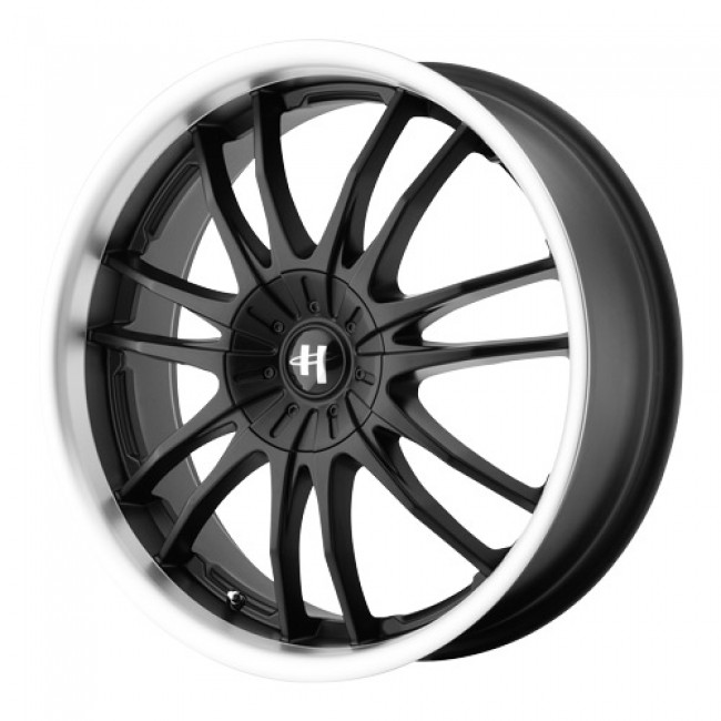 Helo Wheels HE845, Gloss Black Machine wheel