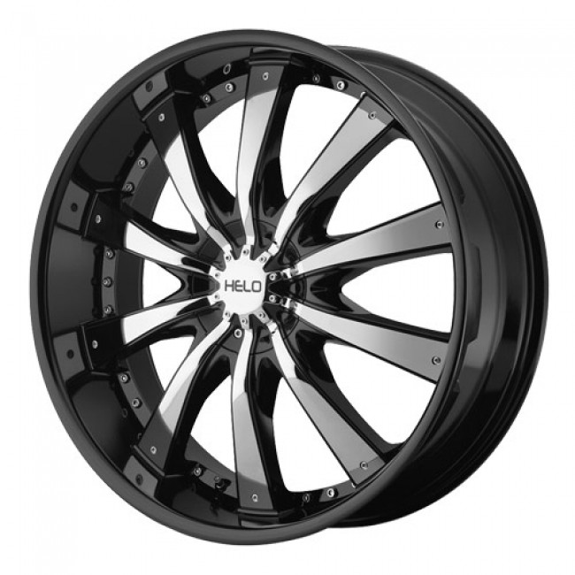 Helo Wheels HE875, Gloss Black wheel