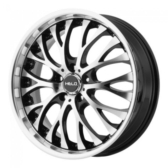 Helo HE890, Gloss Black Machine wheel