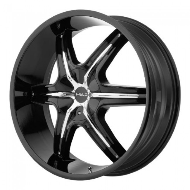 Helo HE891, Gloss Black Machine wheel
