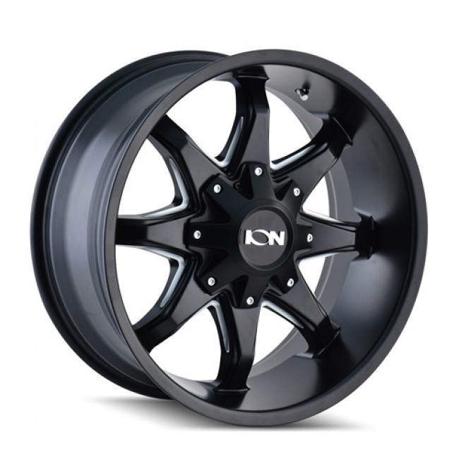 Ion 181 Satin Black / Noir Satine, 20X12, 5x127/139.7 ,(déport/offset -44 ) 87