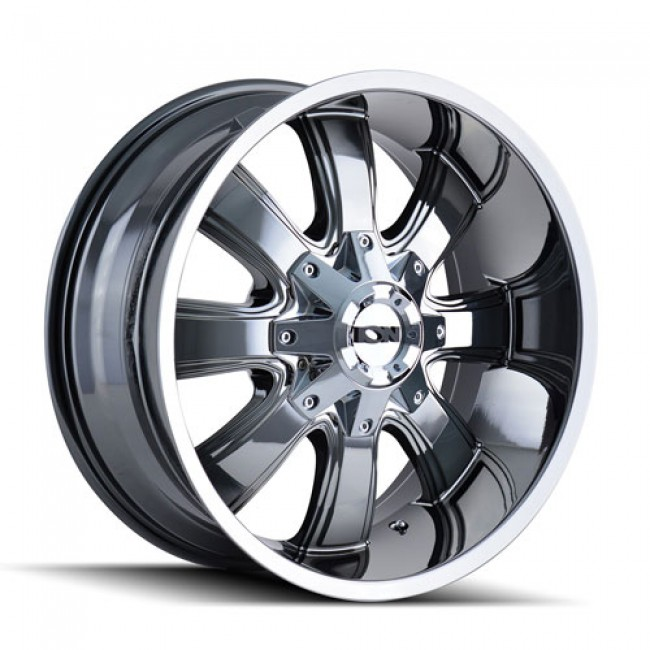 Ion 189 Chrome / Chrome, 18X9, 8x165.1/170 ,(déport/offset -12 ) 130.8