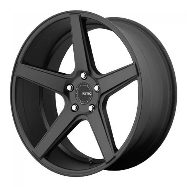 Kmc District, Satin Black/Noir satiné, 19X9.5, 5x112, (offset/déport 35) ,66.56
