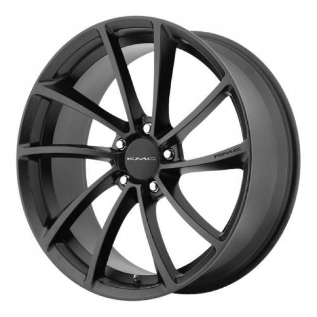 KMC KM691 SPIN, Satin Black wheel