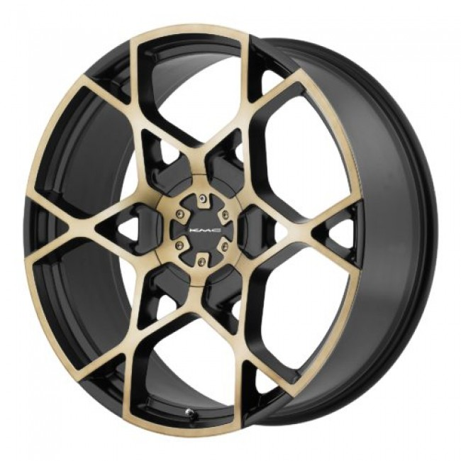 KMC KM695 CROSSHAIR, Machine Black wheel