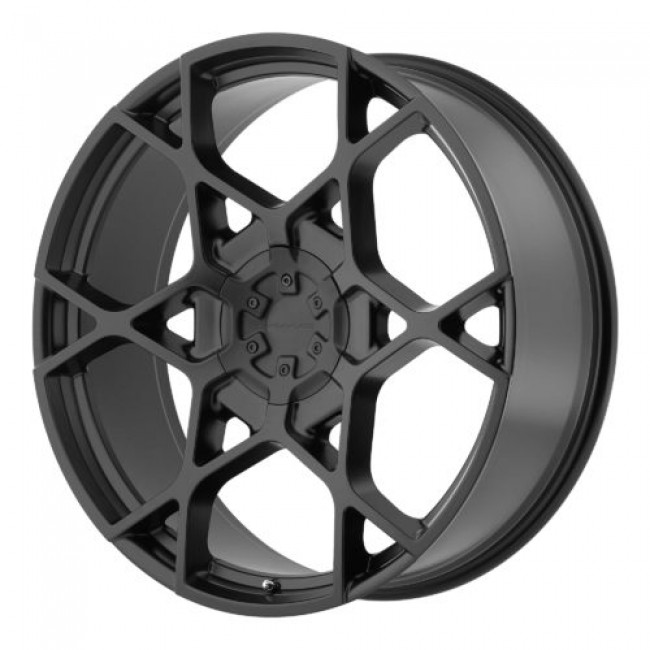 KMC KM695 CROSSHAIR, Satin Black wheel
