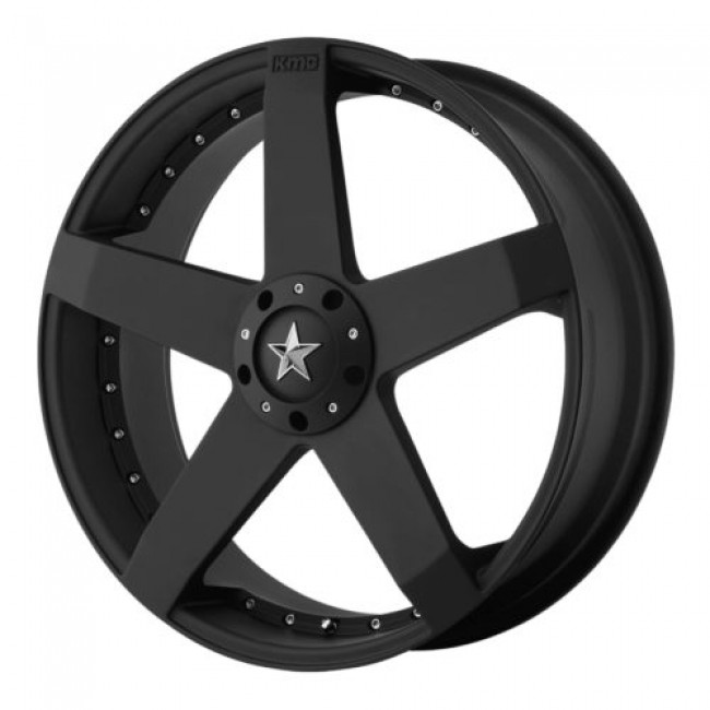 KMC KM775 ROCKSTAR CAR, Matte Black wheel