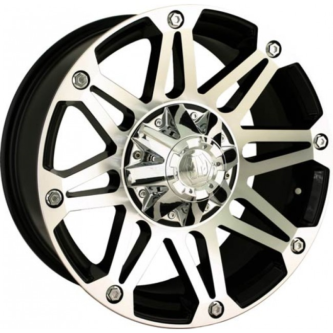 Mayhem 8010 Riot Machiné Black / Noir Machiné, 18X9, 5x127/139.7 ,(déport/offset -12 ) 87