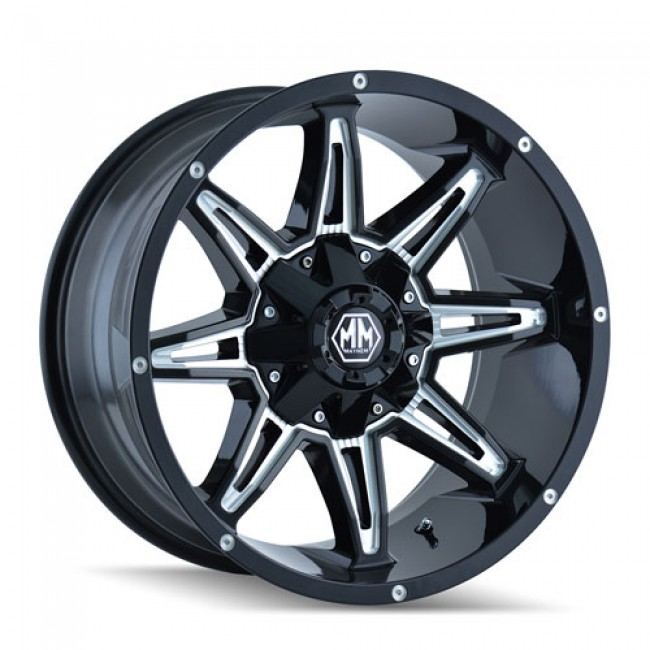 Mayhem 8090 Rampage Machiné Black / Noir Machiné, 17X9, 6x135/139.7 ,(déport/offset 18 ) 108
