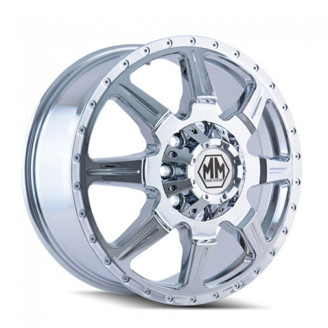 Mayhem 8101 Monstir Chrome / Chrome, 19.5X6.75, 8x165.1 ,(déport/offset 102 ) 121.7