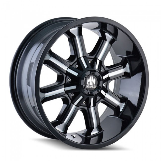 Mayhem 8102 Beast Machiné Black / Noir Machiné, 20X9, 6x135/139.7 ,(déport/offset 18 ) 108