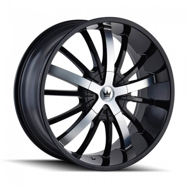 Mazzi 364 Essence Gloss Black Machine / Noir Lustre Machiné, 20X8.5, 5x110/115 ,(déport/offset 35 ) 72.56