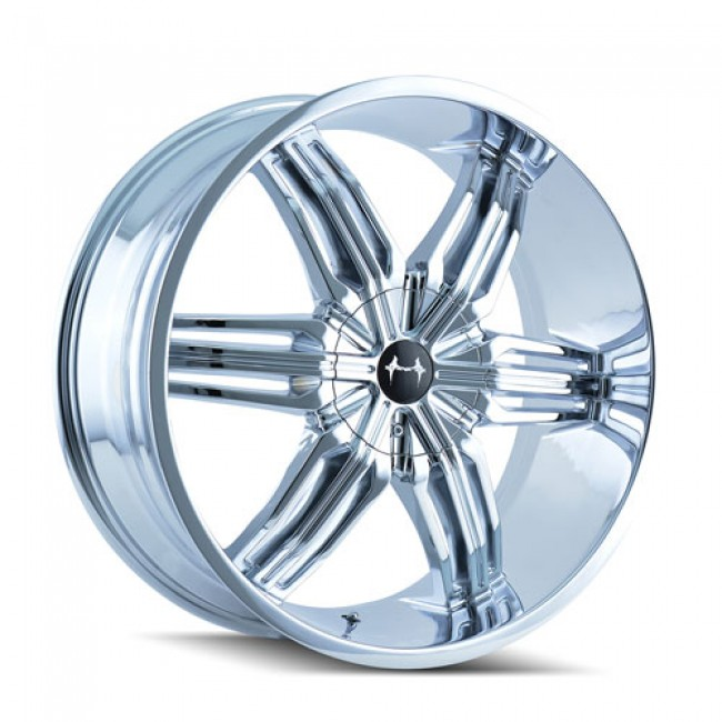 Mazzi 792 Rush Chrome / Chrome, 24X9.5, 5x115/139.7 ,(déport/offset 18 ) 87