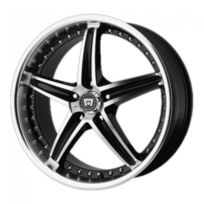 Motegi MR107, Gloss Black Machine wheel
