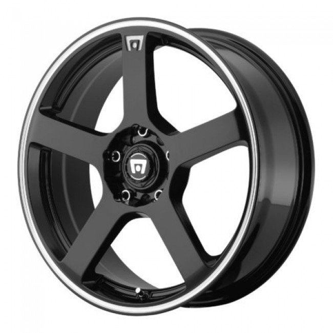 Motegi MR116, Gloss Black Machine wheel