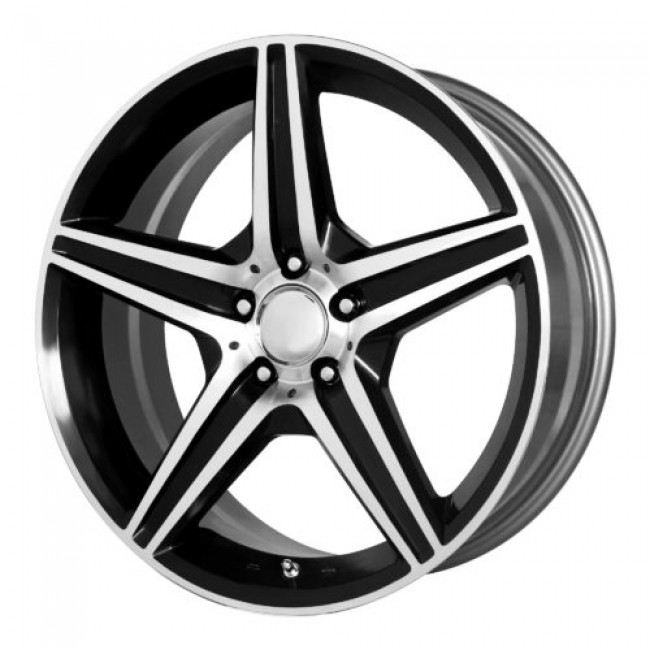 OE Creations PR115, Gloss Black Machine wheel