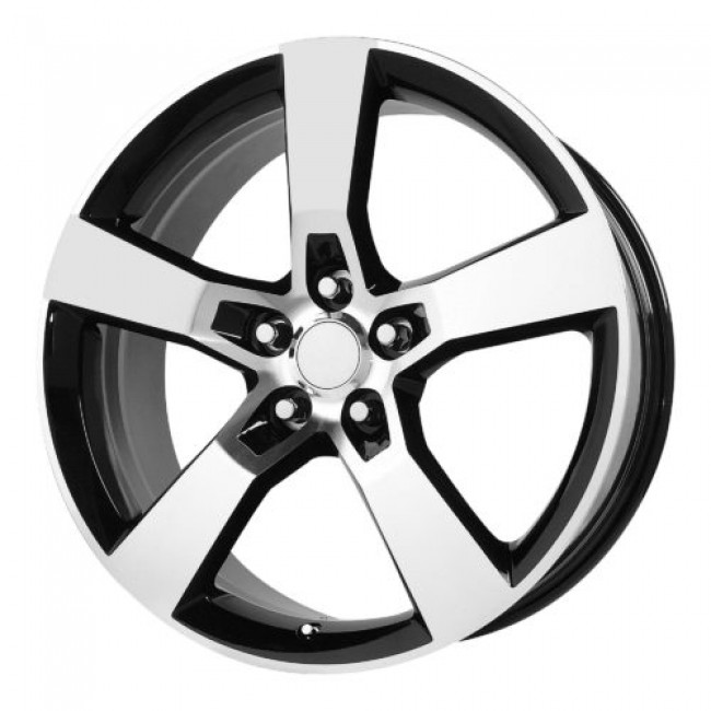 OE Creations PR124, Gloss Black Machine wheel