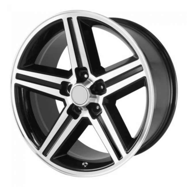 OE Creations PR148, Gloss Black Machine wheel