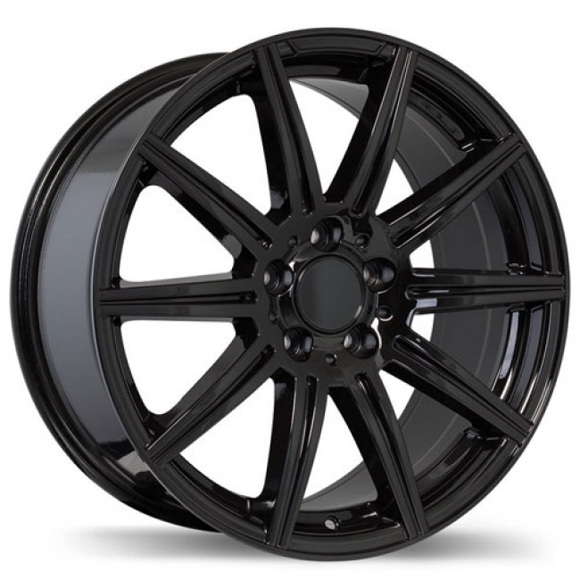 Replika Wheels R157 Gloss Black/Noir lustré , 18X9.5, 5x112, (offset/déport 35 ) 66.5 Mercedes
