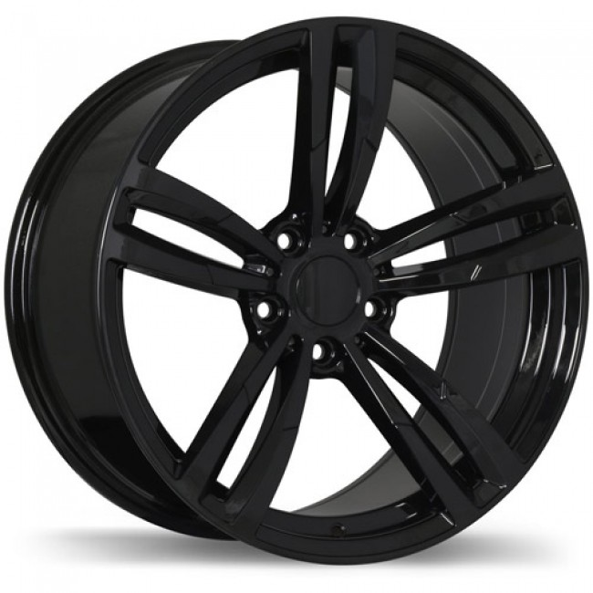 Replika Wheels R163A Gloss Black/Noir lustré , 19X8.5, 5x120, (offset/déport 35 ) 72.6 BMW