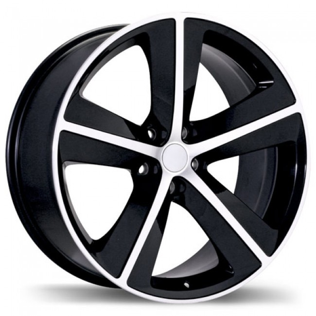 Replika R118A, Gloss Black Machine wheel