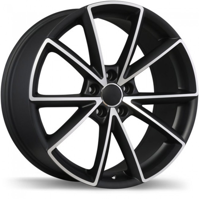 Replika R168, Matt Black Machine wheel