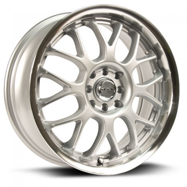 RTX Wheels Euro, Argent Machiné /Machined Silver, 17X7, 5x100/114.3 ( offset/deport 40), 73.1